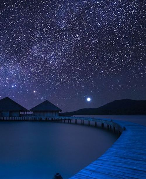 Moon, Milky Way, Song Saa Island, Cambodia